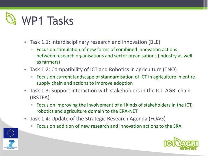 WP1 Tasks