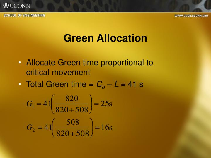 Green Allocation