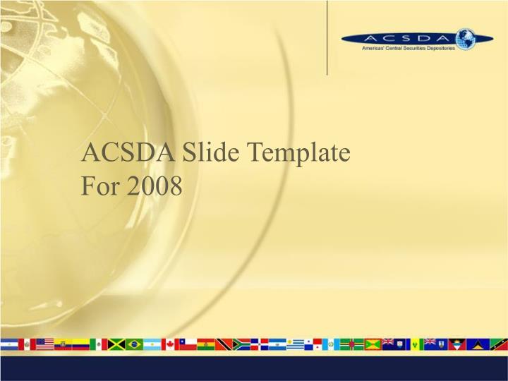 ACSDA Slide Template