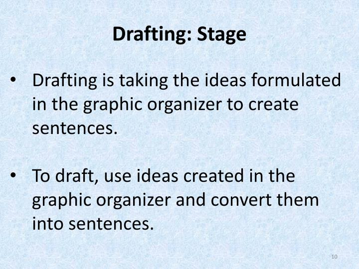 Drafting: Stage