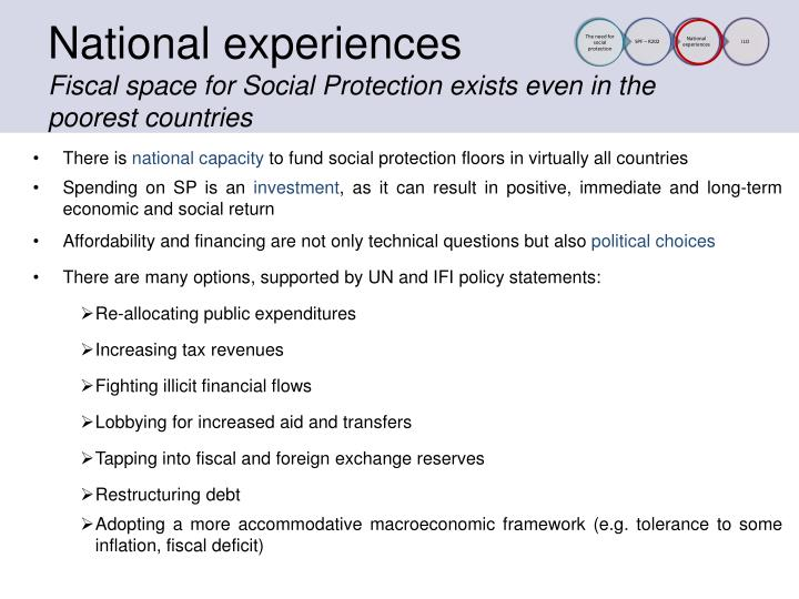 National experiences
