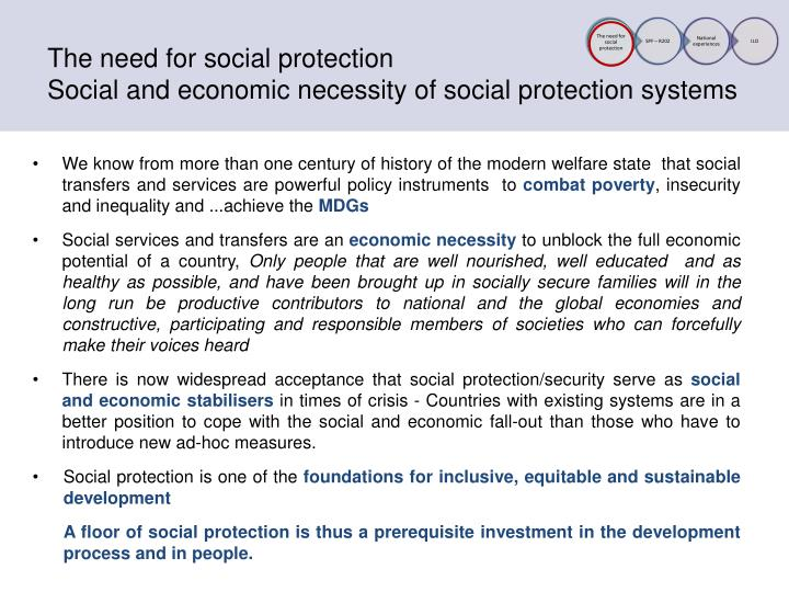 The need for social protection