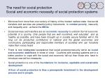 the need for social protection social and economic necessity of social protection systems