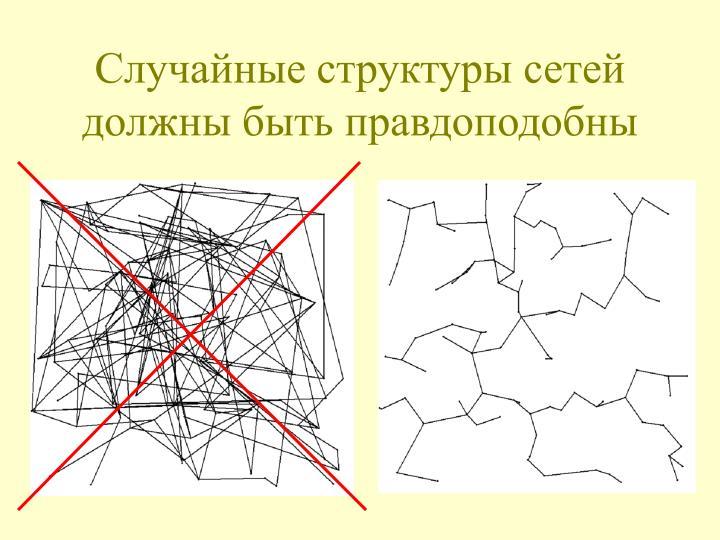Случайные структуры сетей должны быть правдоподобны