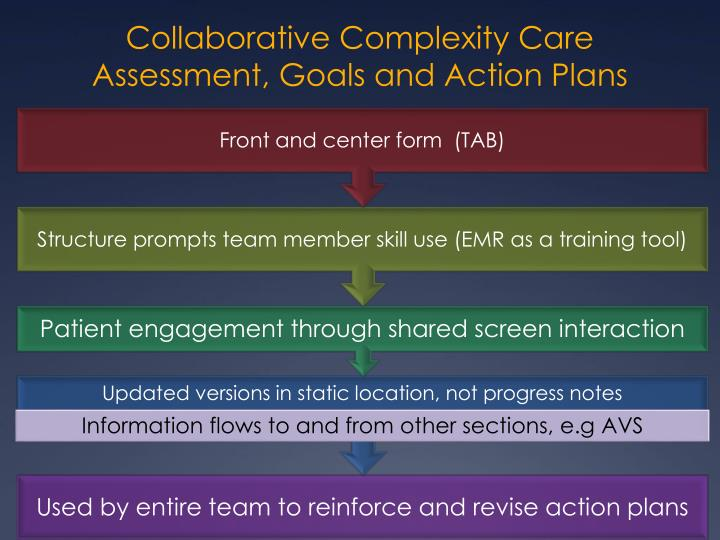 Collaborative Complexity Care Assessment, Goals and Action Plans