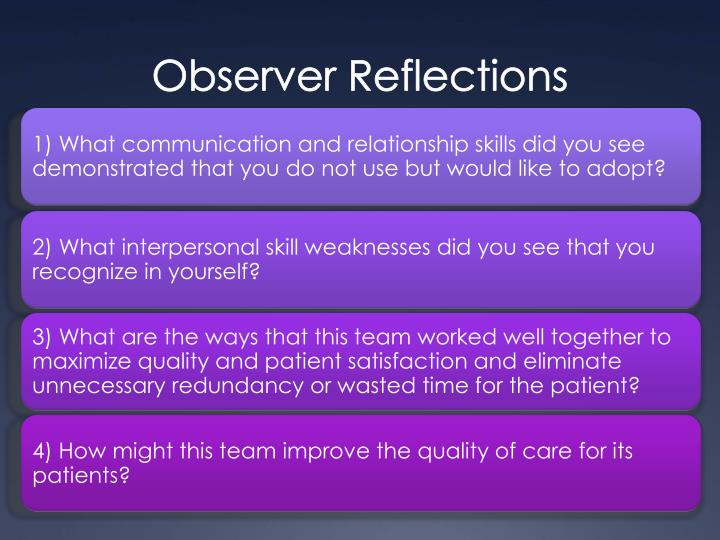Observer Reflections