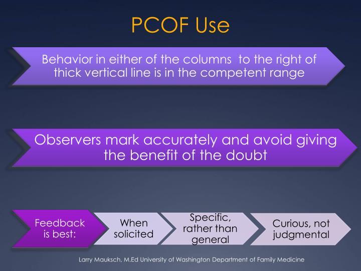 PCOF Use