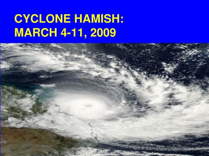 CYCLONE HAMISH