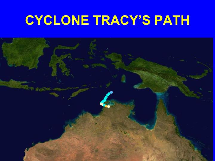 CYCLONE TRACY'S PATH