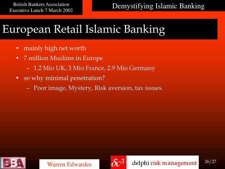 European Retail Islamic Banking
