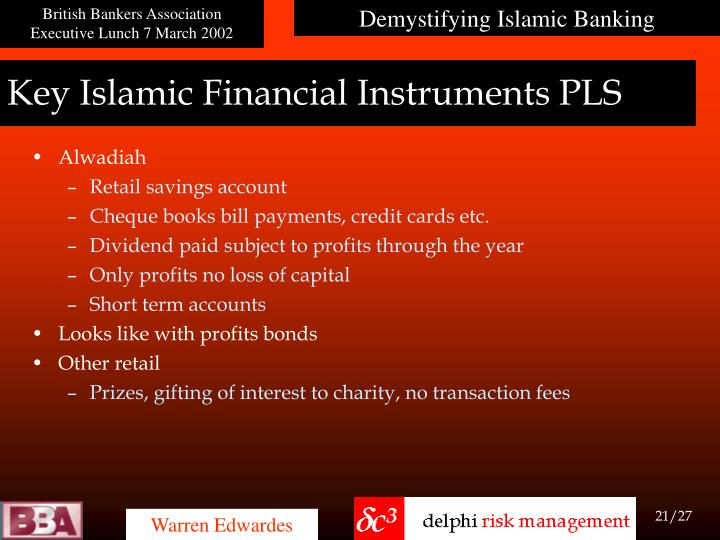 Key Islamic Financial Instruments PLS