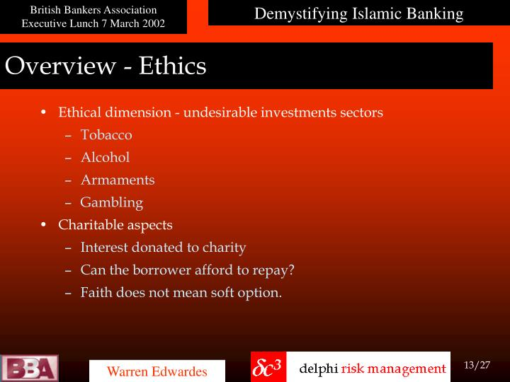 Overview - Ethics