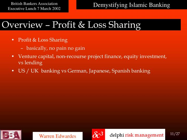 Overview – Profit & Loss Sharing