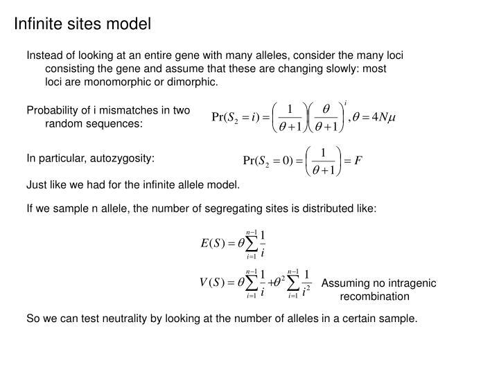 Infinite sites model