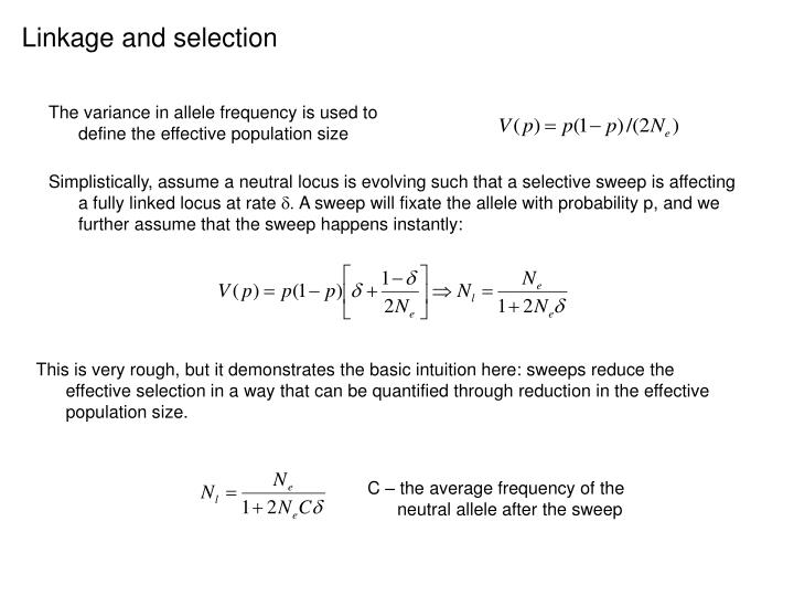 Linkage and selection
