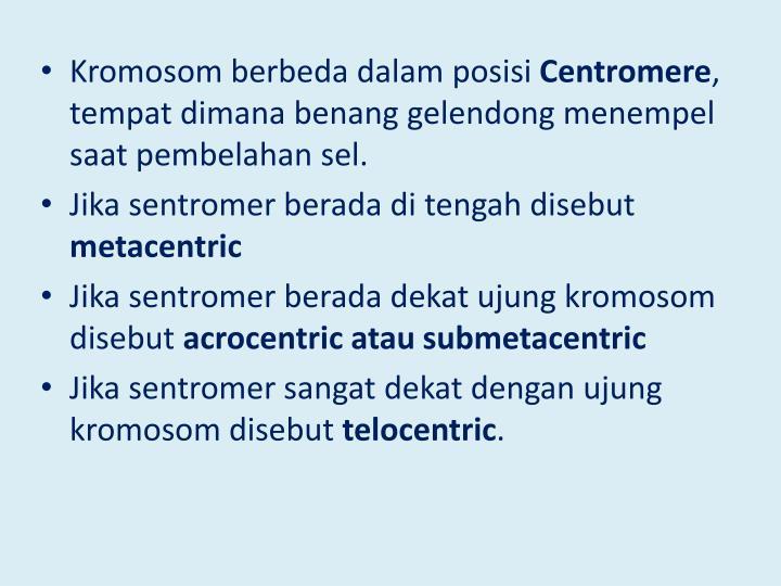 Kromosom berbeda dalam posisi