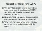 request for help from cvfpb