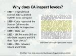 why does ca inspect levees