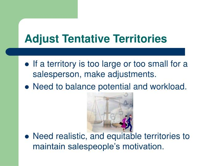 Adjust Tentative Territories