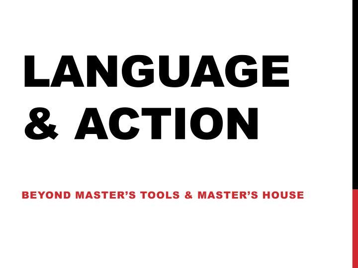 Language & action