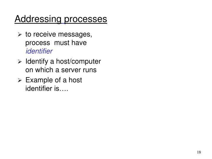 to receive messages, process  must have
