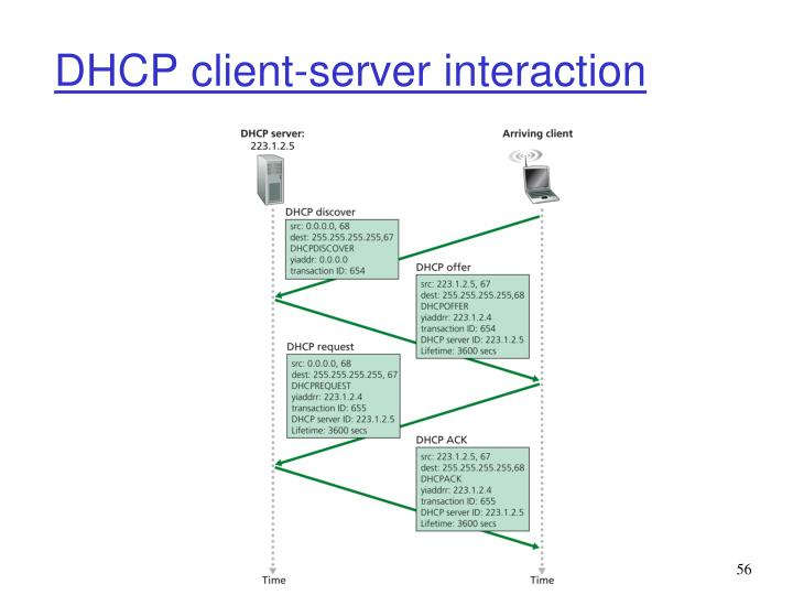 DHCP client-server interaction