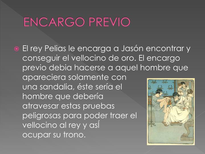ENCARGO PREVIO
