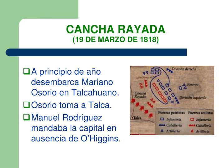 CANCHA RAYADA