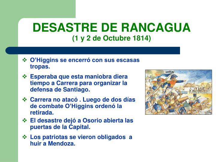 DESASTRE DE RANCAGUA