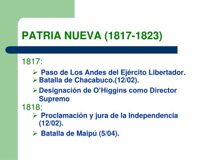 PATRIA NUEVA (1817-1823)