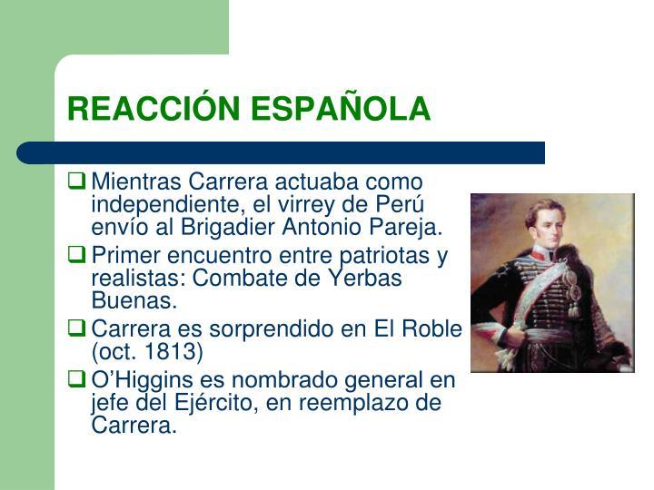 REACCIÓN ESPAÑOLA