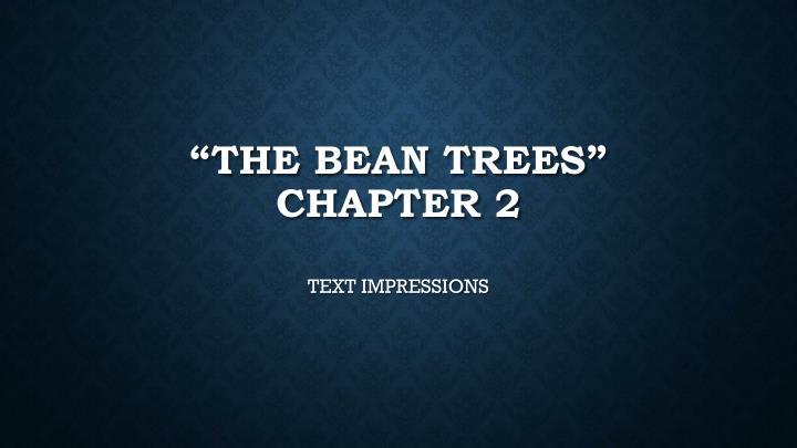"""The Bean Trees"""