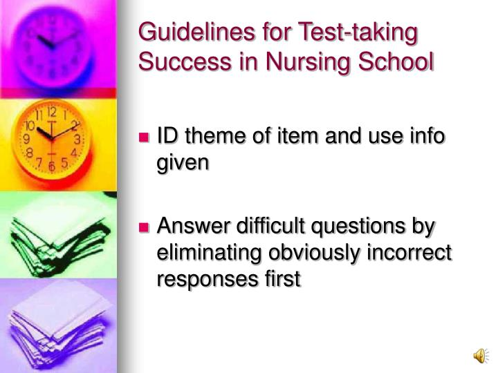 Guidelines for Test-taking Success in Nursing School