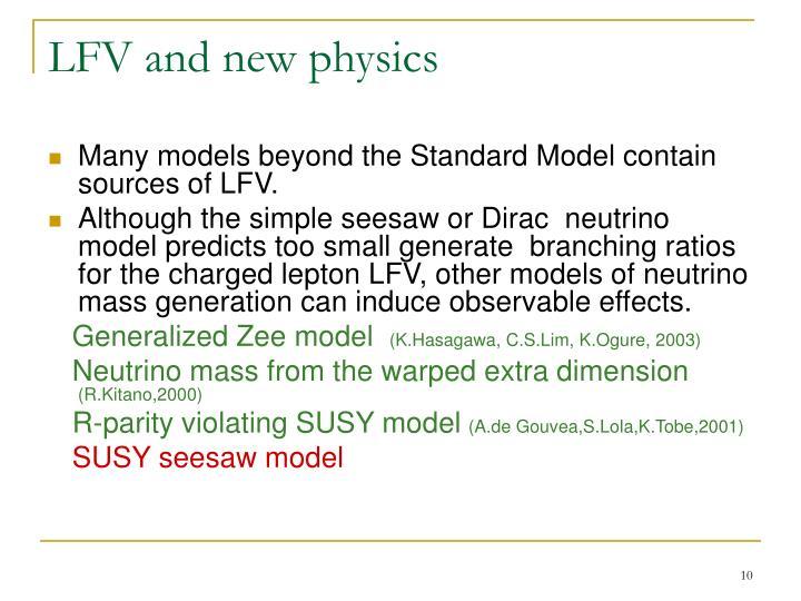 LFV and new physics