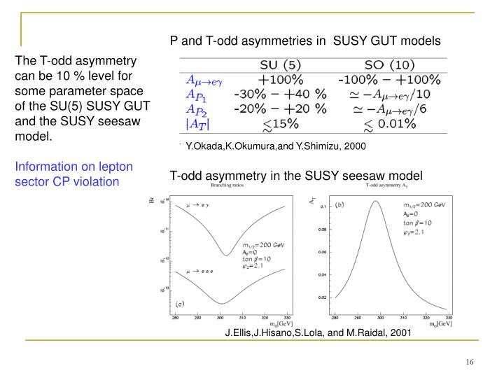 P and T-odd asymmetries in  SUSY GUT models