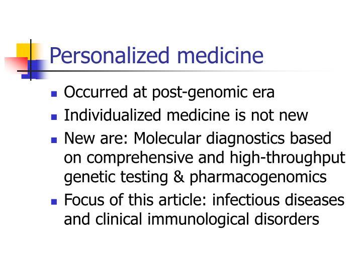 Personalized medicine