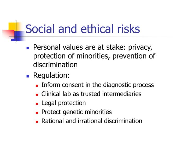 Social and ethical risks