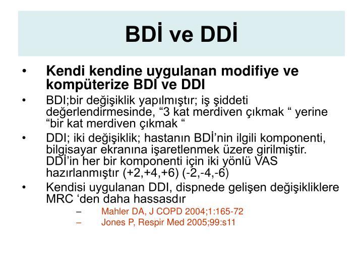 BDİ ve DDİ