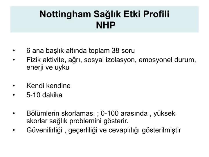 Nottingham Sağlık Etki Profili