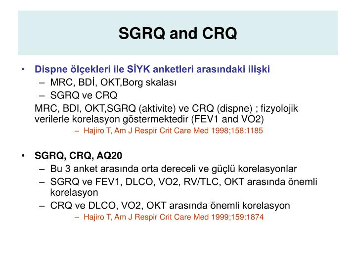 SGRQ and CRQ