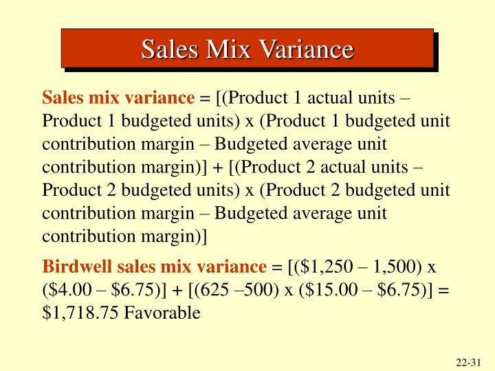Sales Mix Variance