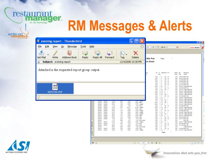 RM Messages & Alerts