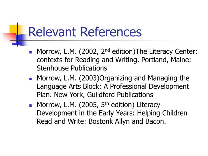 Relevant References
