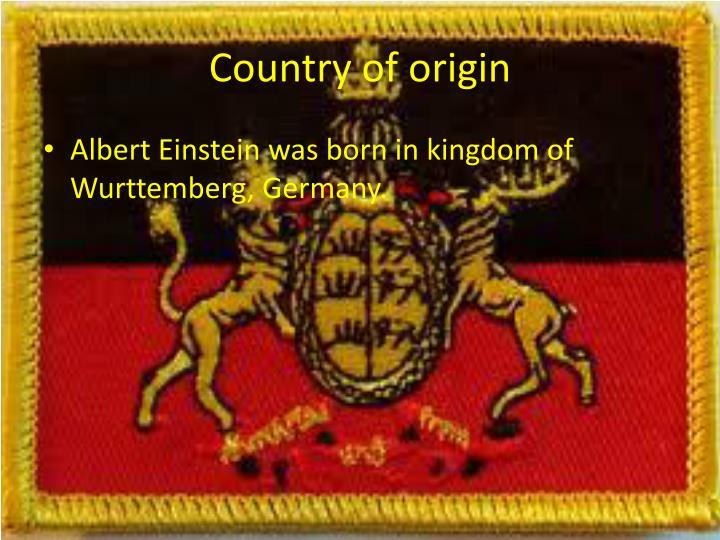 Country of origin