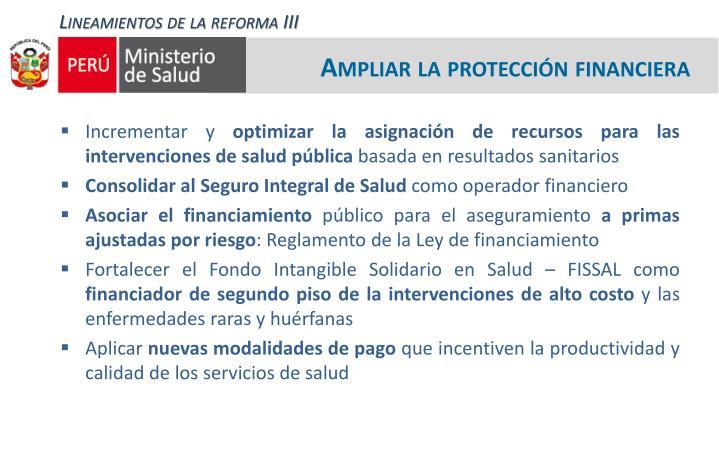 Lineamientos de la reforma III