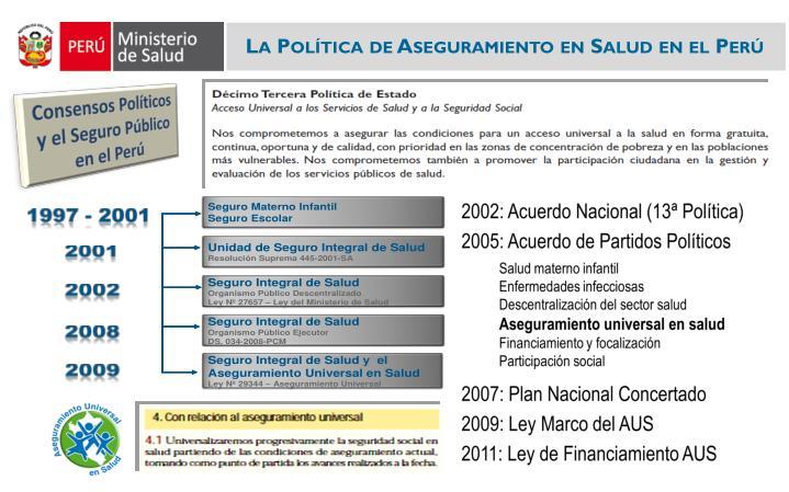 La Política de Aseguramiento en Salud en el Perú