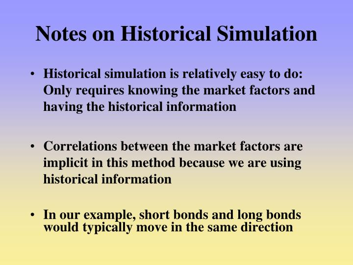 Notes on Historical Simulation