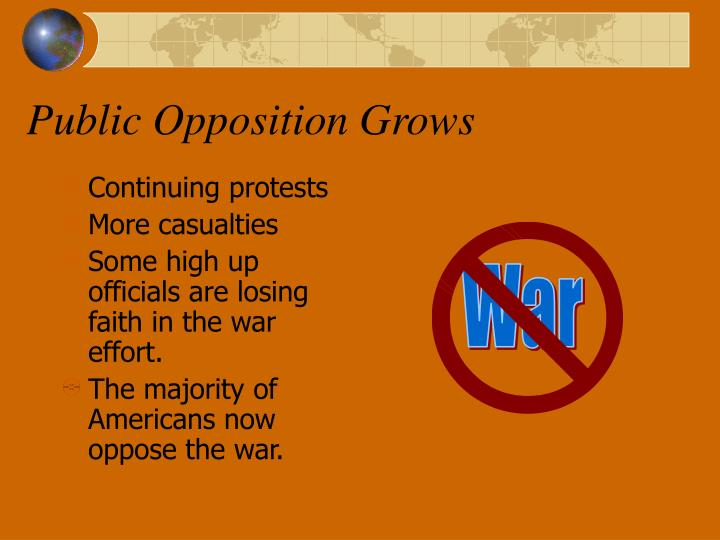Public Opposition Grows