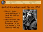 students for a democratic society sds