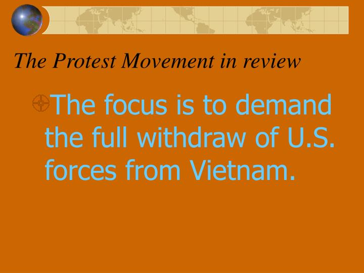 The Protest Movement in review